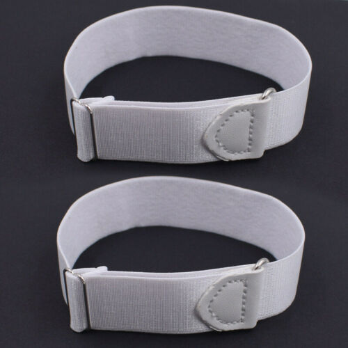 1 Pair Men Shirt Sleeve Garter Arm Band Adjustable Armband Hold Up Bartender