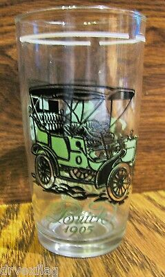 RARE 1905 Buick Retro Juice Glasses 1908 Rambler Mint Green Vintage Glasses Mint Condition