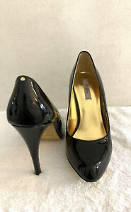 Genuine-TED-BAKER-Black-Patent-Leather-Pumps-Court-Heels-Uk-7