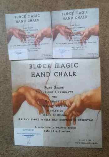 environ 56.70 g Magic Hand Chalk Blocs 8 x 2 OZ de Superior Homme Fort