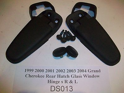 1996 Jeep Grand Cherokee Rear Liftgate Hatch Glass Window Hinge s R /& L #DS004/>