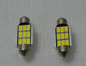 2-x-LAMPADINE-LED-C5W-9-SMD-36MM-BIANCO-CANBUS-MATRICOLA-BULBS-WHITE-LAMPADA