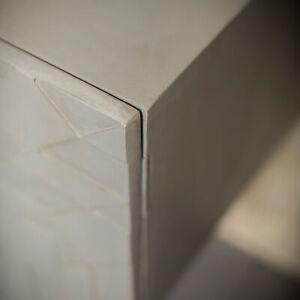 Credenza grigia, mobiletto sideboard per il salotto, moderno, legno, 160cm