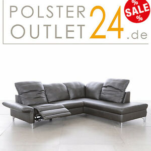 w schillig ledergarnitur ledersofa in z80 95graphite modell 33220 siena ebay. Black Bedroom Furniture Sets. Home Design Ideas