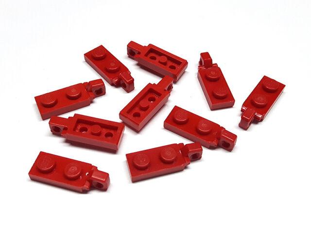 LEGO 2x Platte Scharnier Bauplatte 3 Finger 1x2 Noppen rot hinge 4275