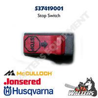 Genuine Husqvarna 537419001 Stop Switch   525, 326, 323, 223l