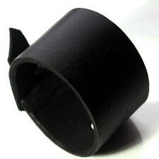 schwarzes Leder Manschetten Wristbandarmband verstellbar-handgemacht