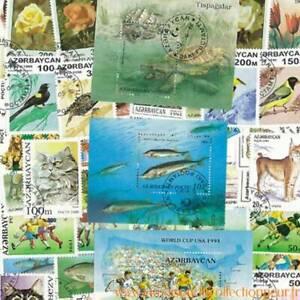 Collection-de-timbres-Azerbaidjan-obliteres
