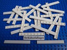 25 Lego WHITE 1x8 FINISHING TILES / PLATES Bulk Smooth Tile Plate Lot Floor Roof