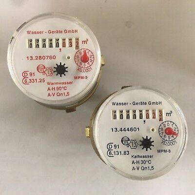 TECHEM MK Messkapsel-Wasserzähler von Wasser-Geräte TE1 M62x2 Qp 1,5 m3//h Q3=2,5