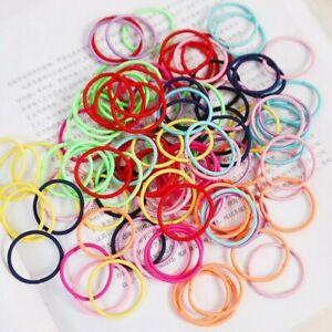 100pcs-Ragazze-Elastici-per-Capelli-Color-Caramella-Nylon-3CM-in-Gomma-Bambini