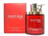 Yacht Man Red Eau De Toilette Spray For Men 3.4 Oz / 100 Ml Brand & Sealed