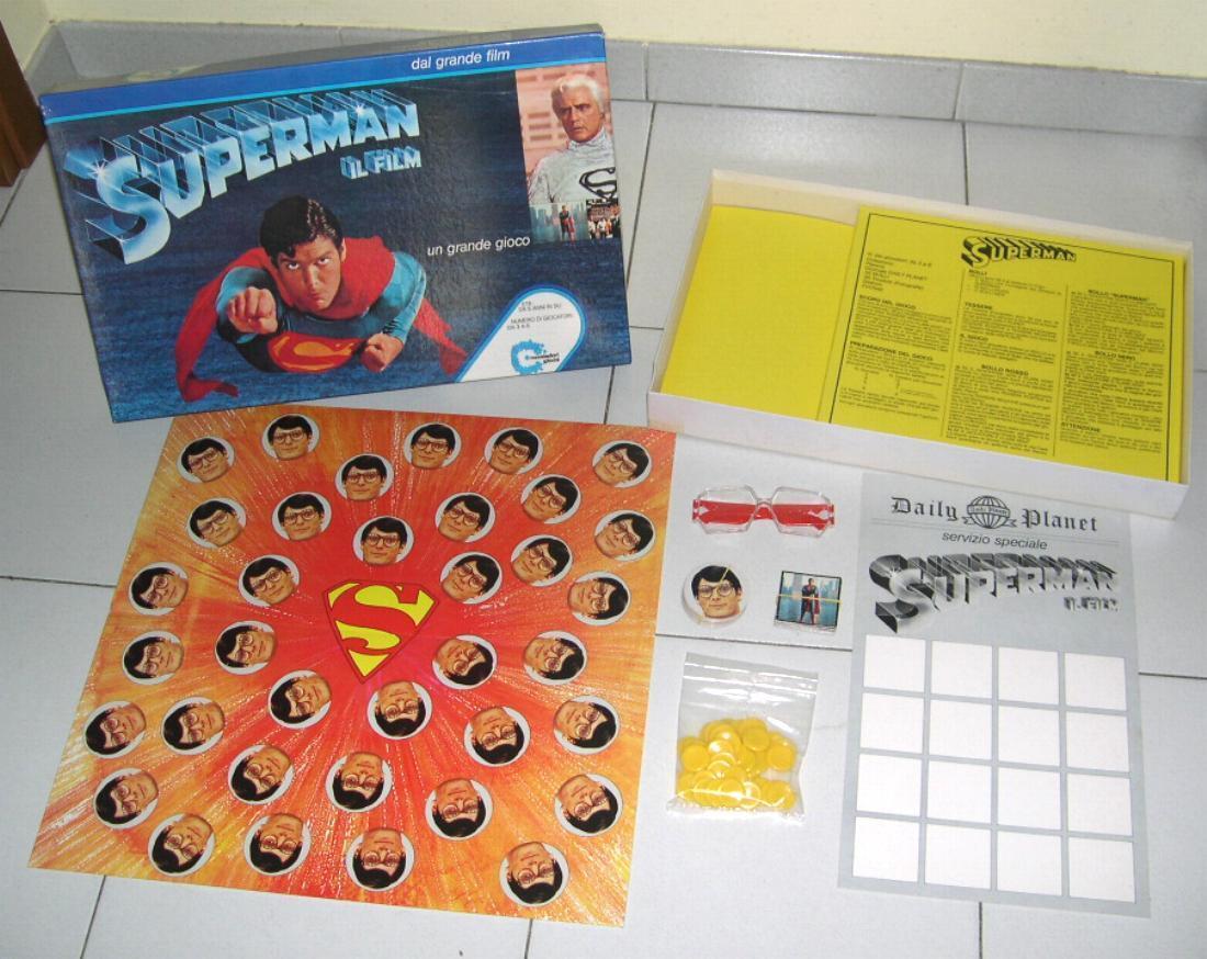 SUPERMAN THE FILM – Mondadori Games 1979 PERFECT Clark Kent Game