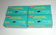 Lot Of 4 Boxes Staples 15338 12 Piece Small Binder File Paper Clips Black 35