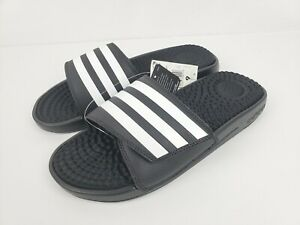 Details about Adidas Adissage TND Adjustable Slides Sandals Black White  Size 9 F35565 NEW