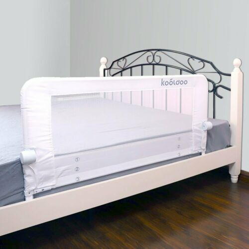 """Kooldoo 51/"""" Fold Down Toddlers Safety Bed Rail Children Bed Guard With Nbr Foam"""