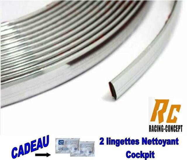 ROULEAU BANDE CHROME AUTOCOLLANTE 8 METRES 16mm