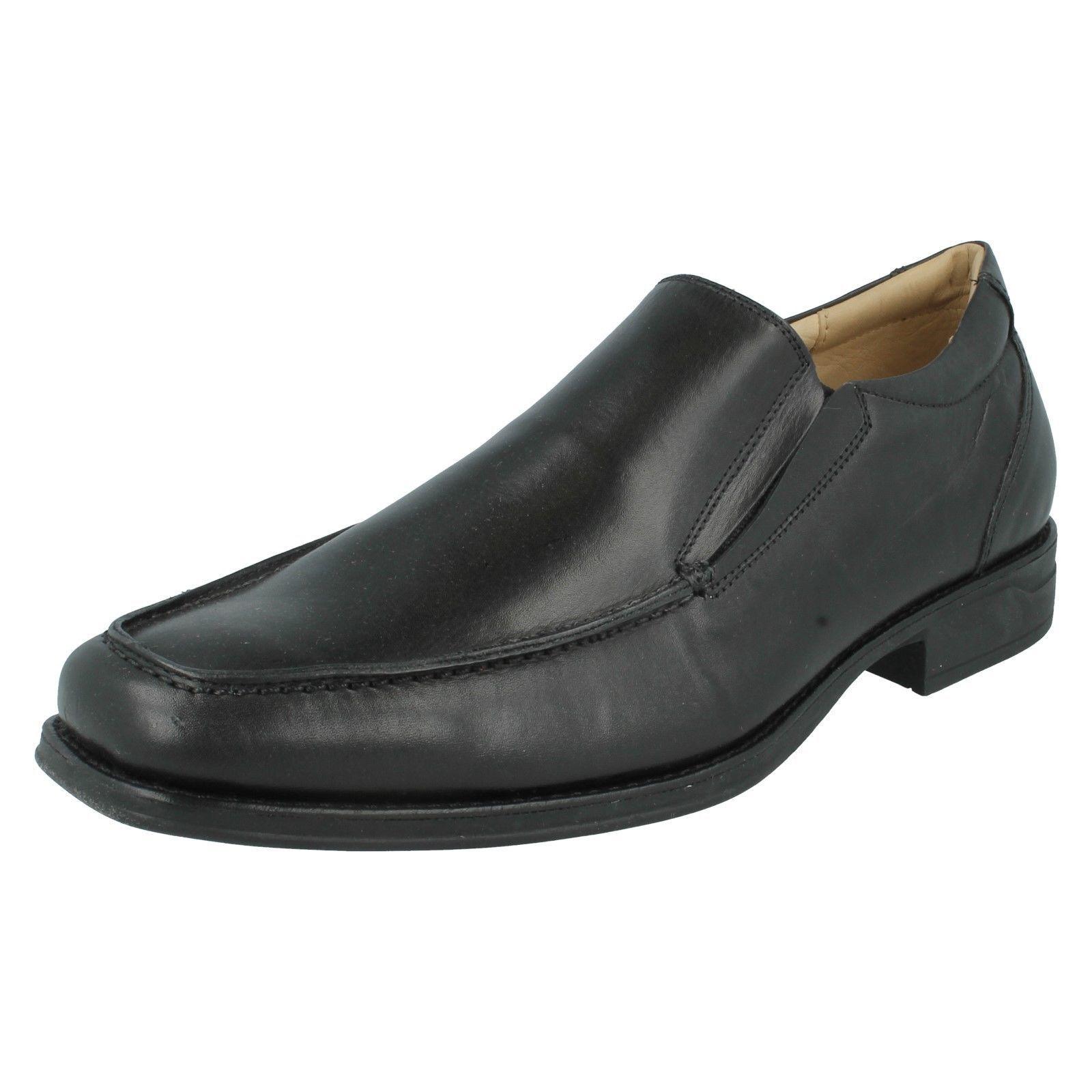 salemens Anatomic & Co verschiedene Größen schwarzes Leder formelle Slipper -