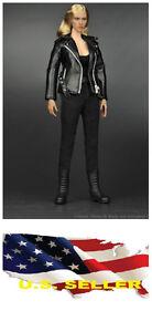 ❶❶ZY Toys T800 1/6 Leather Jacket Set for Hot Toys Phicen Female Kumik Body❶❶