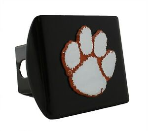 on Chrome Metal Hitch Cover AMG Clemson Metal Emblem with Colors