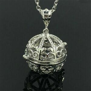 Silver Locket Necklace Fragrance Essential Oil Aromatherapy Diffuser Penda