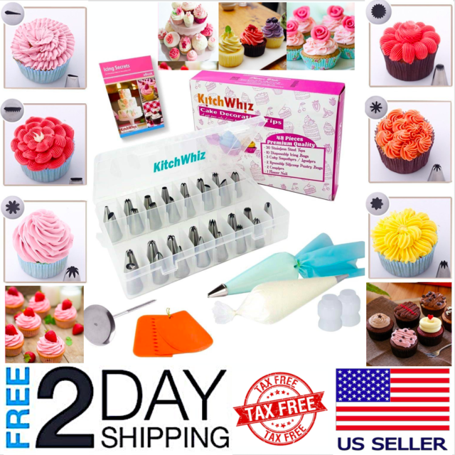 Cake Decorating Kit Tools 121Pc,Supplies Piping Bags And 48 ...