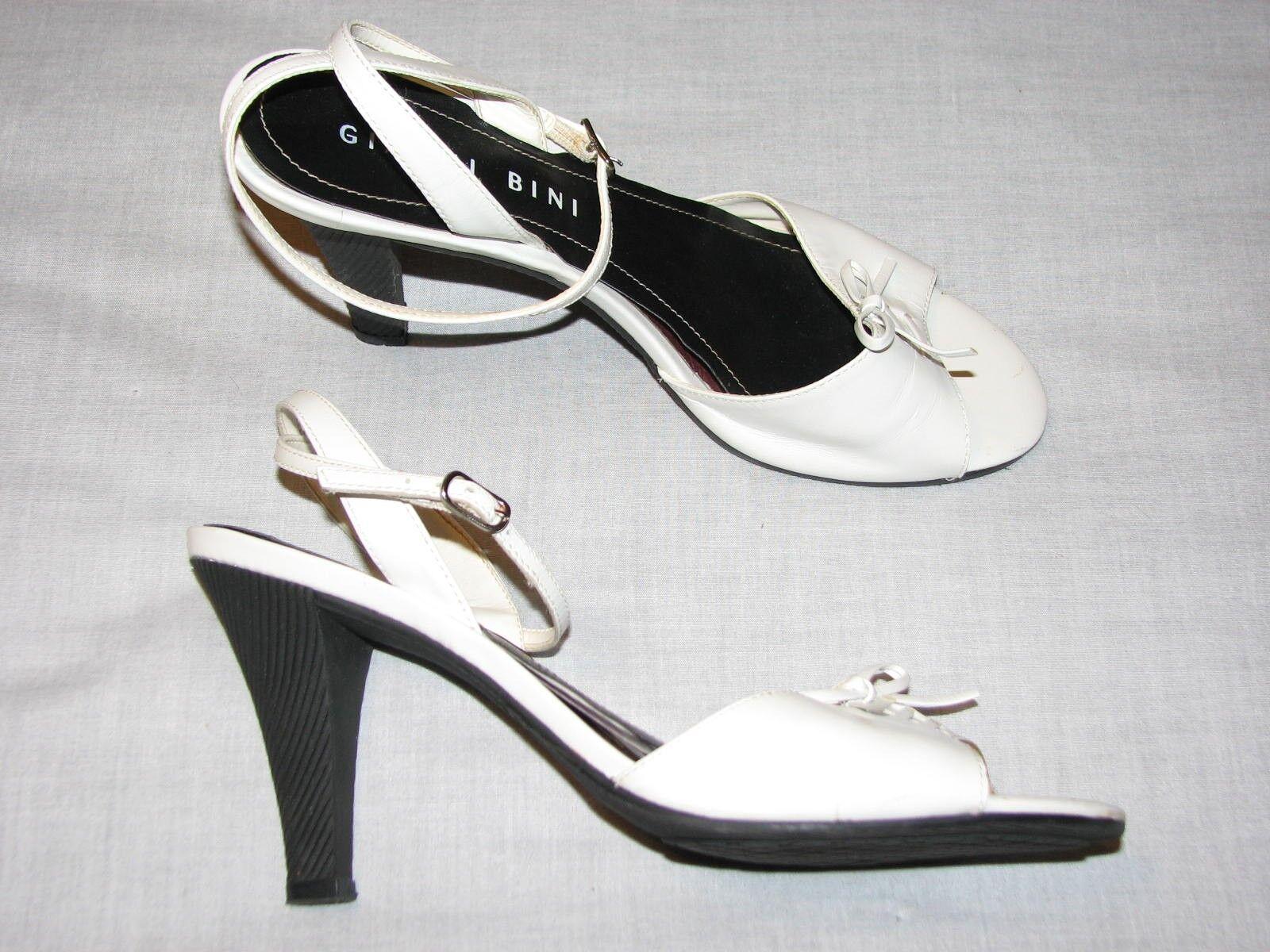 8.5 M Ladies Gianni Bini White Leather Ladies M Shoes Poetry Woemsn strappy high heels B 8ca800