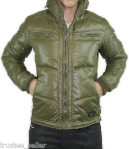 NWT Diesel Mens Olive Green Quilted Wanton Down Puffer ...