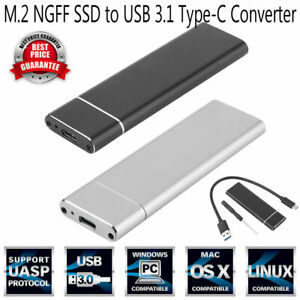 M-2-NGFF-SSD-6Gbps-to-USB-3-1-Type-C-Converter-Adapter-Enclosure-Case-Box
