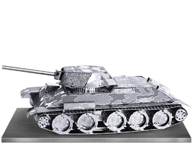 T-34 Carroarmato: Metal Earth 3d Taglio Laser Kit Modellino Miniatura 2 Fogli