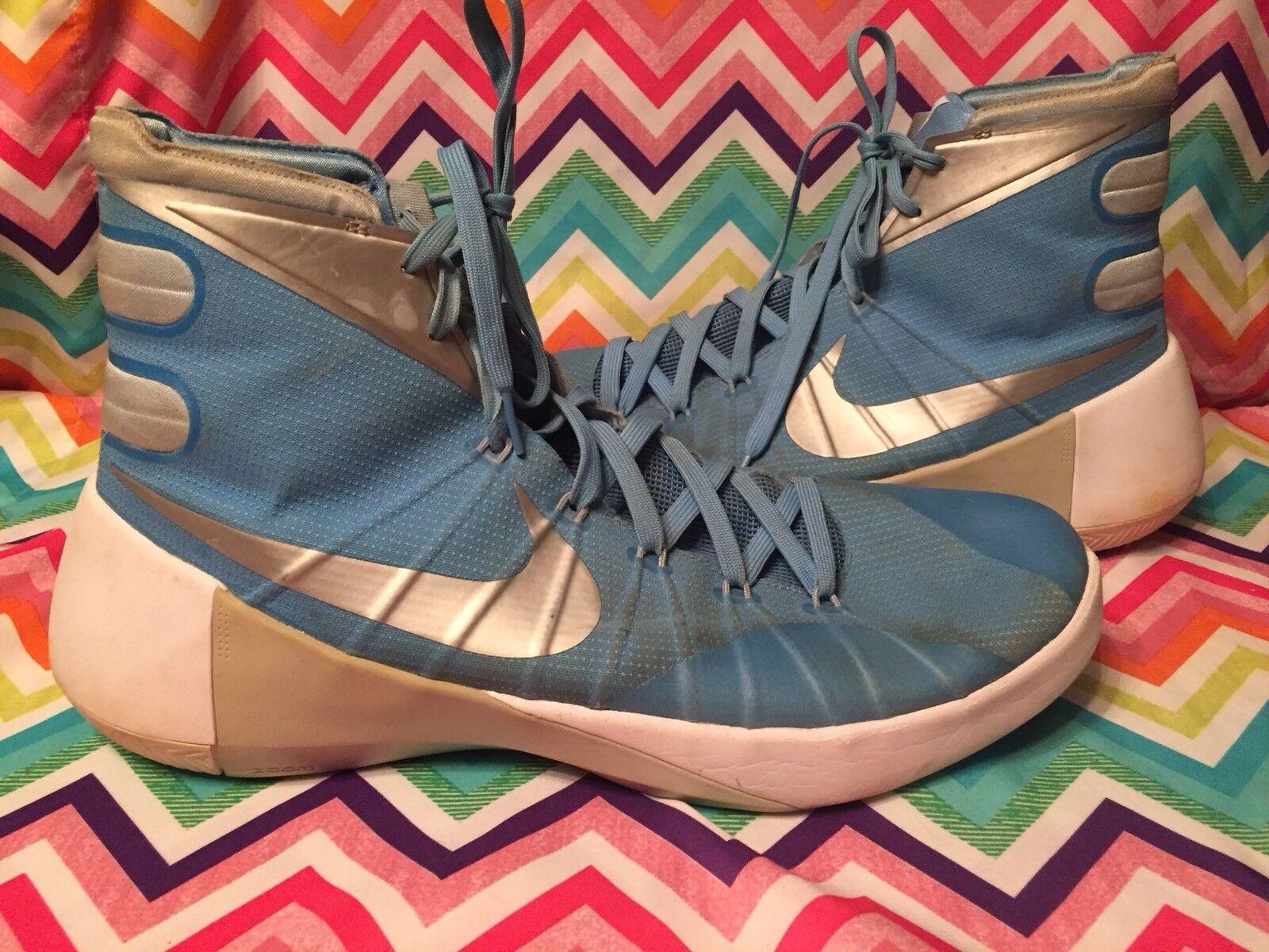 Nike Hyperdunk 2015 University bluee Icebluee White 749645-403 Size 14