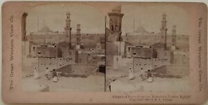 Egitto Citadelle Del Cairo Foto Young Stereo Vintage B Albumina 1900