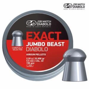 JSB-Exact-Jumbo-Beast-22-Air-Rifle-Pellets-Very-Heavy-Air-Gun-Ammo-Tins-of-150