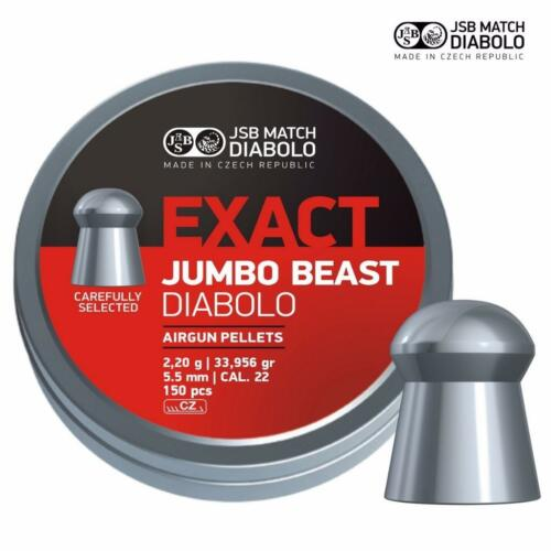 JSB esatta Jumbo Beast .22 Pellet Air Fucile Pistola ad aria molto pesanti Munizioni barattoli di 150
