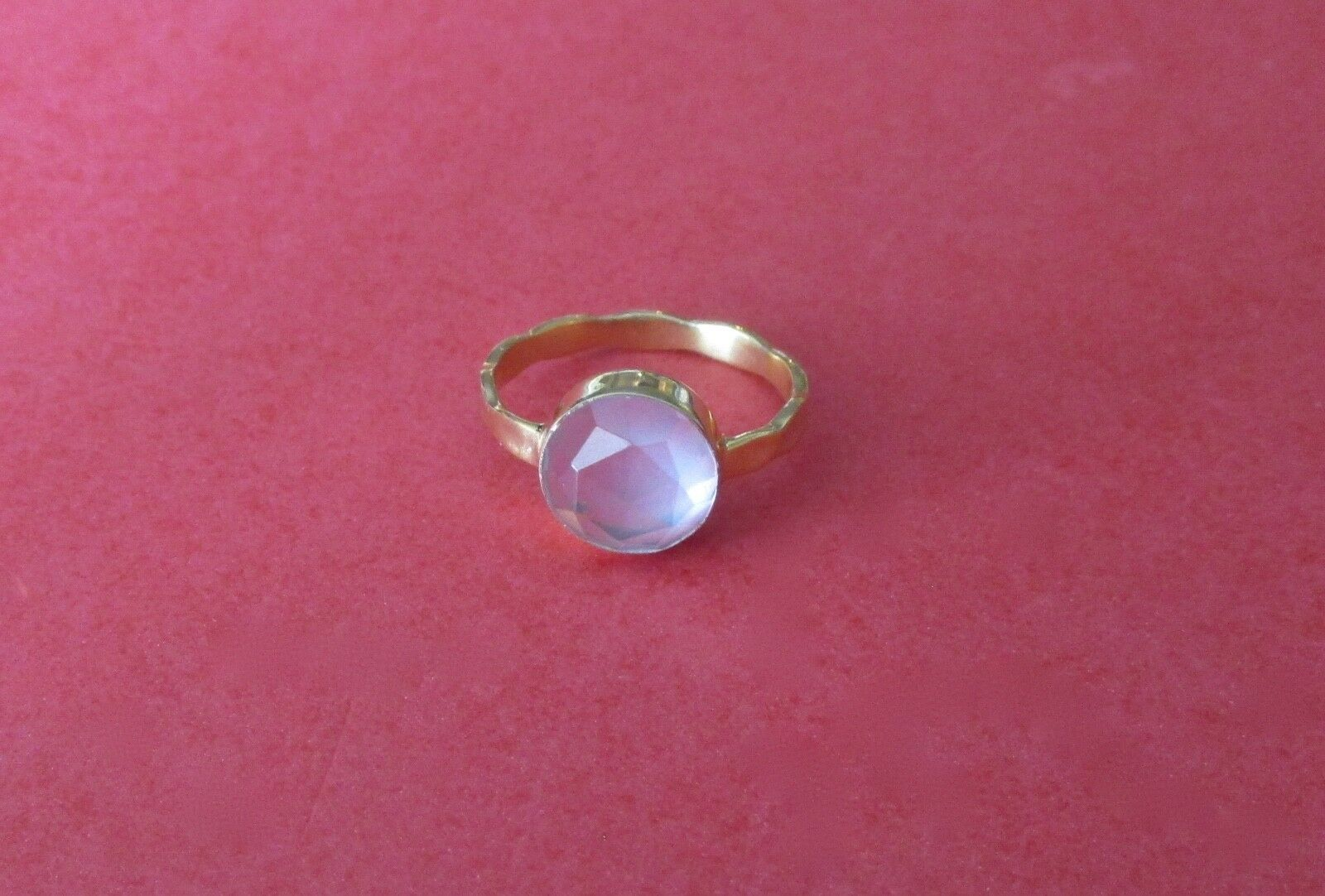 Chalcedony Ring In a Vermeil Setting