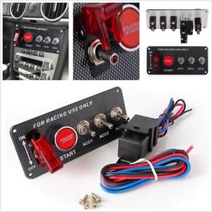 Carbon-Fiber-Race-Car-Ignition-Accessory-Engine-Start-Push-Button-Switch-Panel