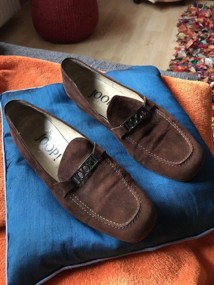 Damen Schuh Wildleder Wildleder Wildleder braun. Gr. 40. flach. Joop. NP d635d6