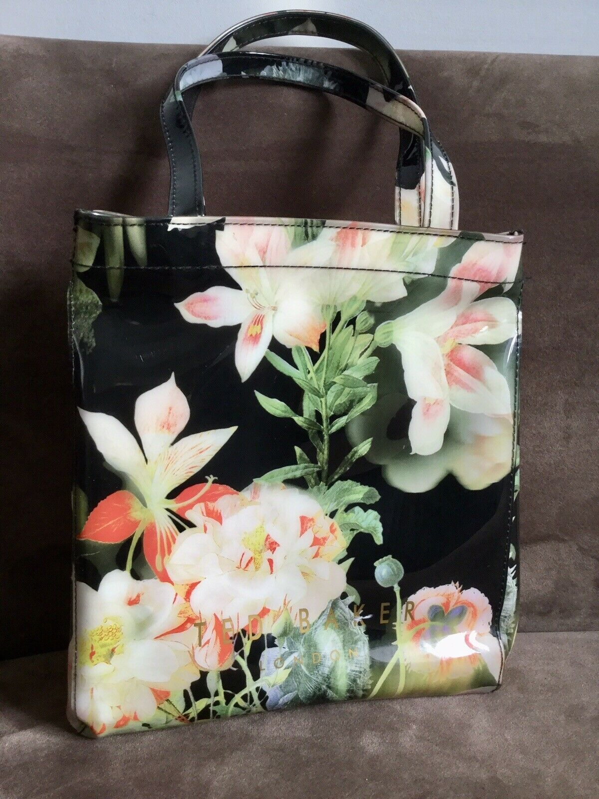 Ted Baker London Lilly Floral Small Plastic 2 Handle Small Shopper Tote Bag