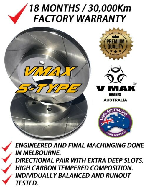 SLOTTED VMAXS fits FORD Escort RS2000 1979-1981 FRONT Disc Brake Rotors