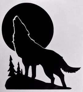 wolf howling moon silhouette car truck window vinyl decal hunting clipart black and white hunting clipart bird