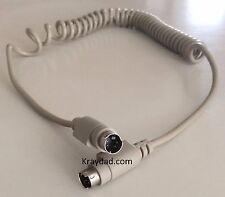 Apple ADB Mac Macintosh Coiled Keyboard Cable 4 pin MM