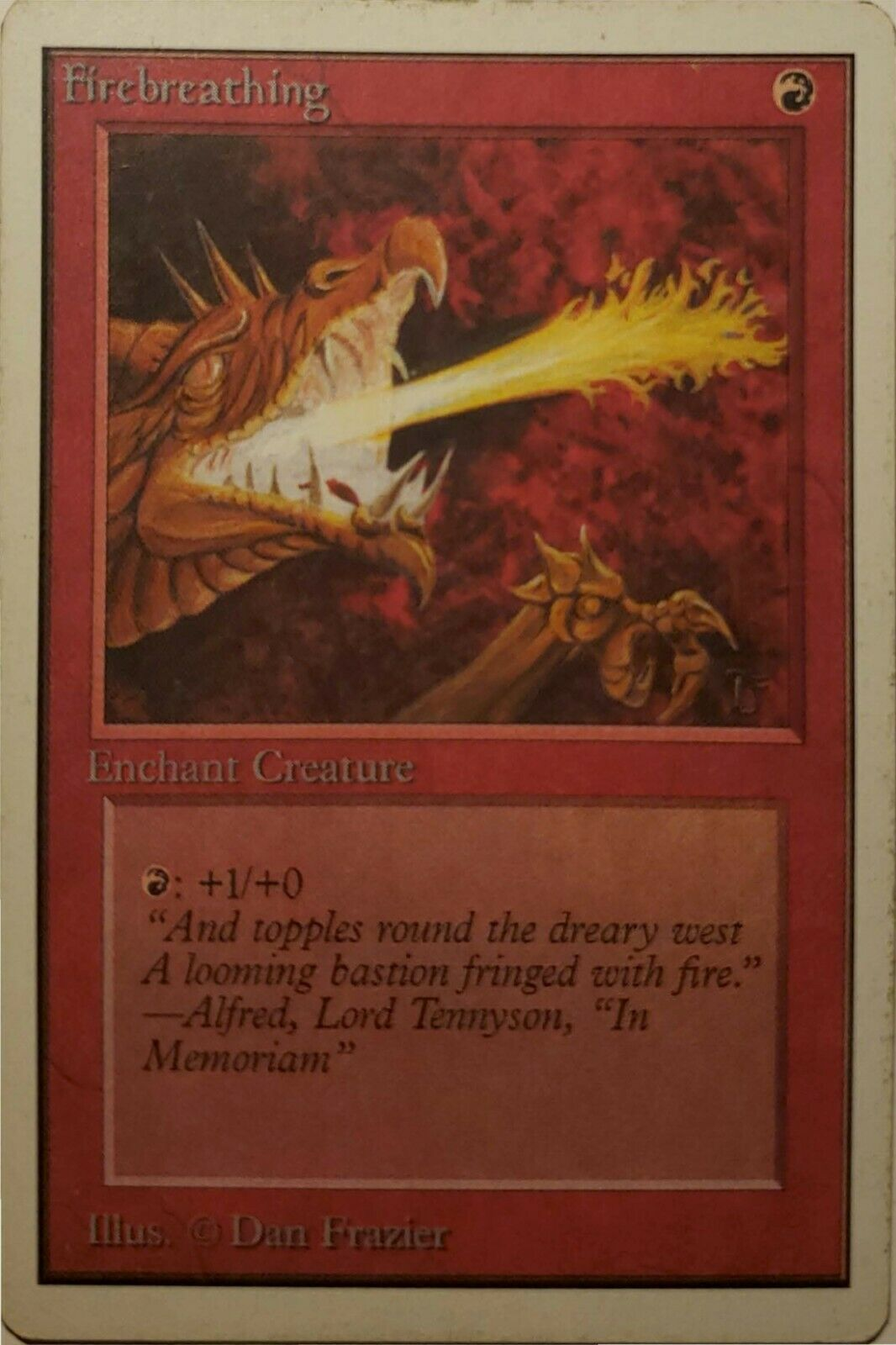 MTG Unlimited Firebreathing - Near Mint - Magic the Gathering card