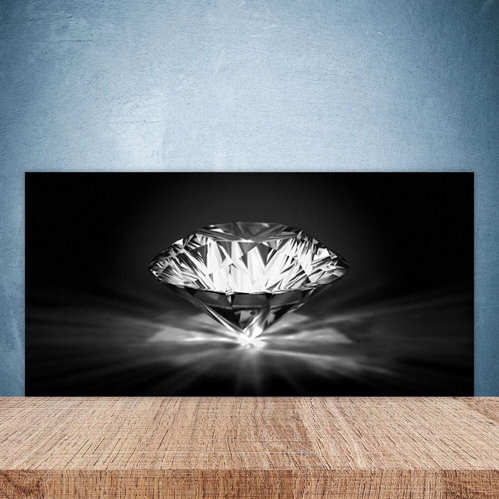 Vidrio Templado Cocina salpicaduras 100x50 Diamante Arte