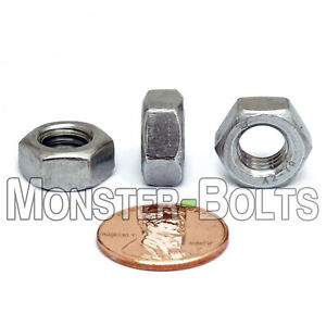 M8-1.25 Hex Nut Stainless M8-1.25 Hex Nuts DIN 934 18-8 Stainless Steel 50 Pieces