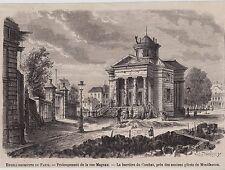 1863  --  PARIS   PROLONGEMENT DE LA RUE MAGNAN   3B671