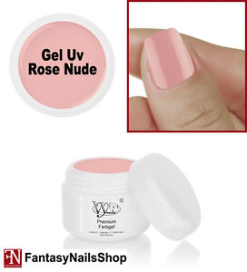 GEL UV NUDE ROSE 7308 unghie NDED colore carne pelle naturale 5 ml nail art