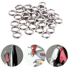 200pcs Stainless Steel Fishing Split Rings Lure Solid Ring Loop Connectors WT7n