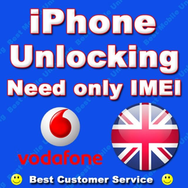 iPhone 3G 3GS 4S 5 VODAFONE UK Factory Permanent Unlocking, BUY WITH CONFIDENCE