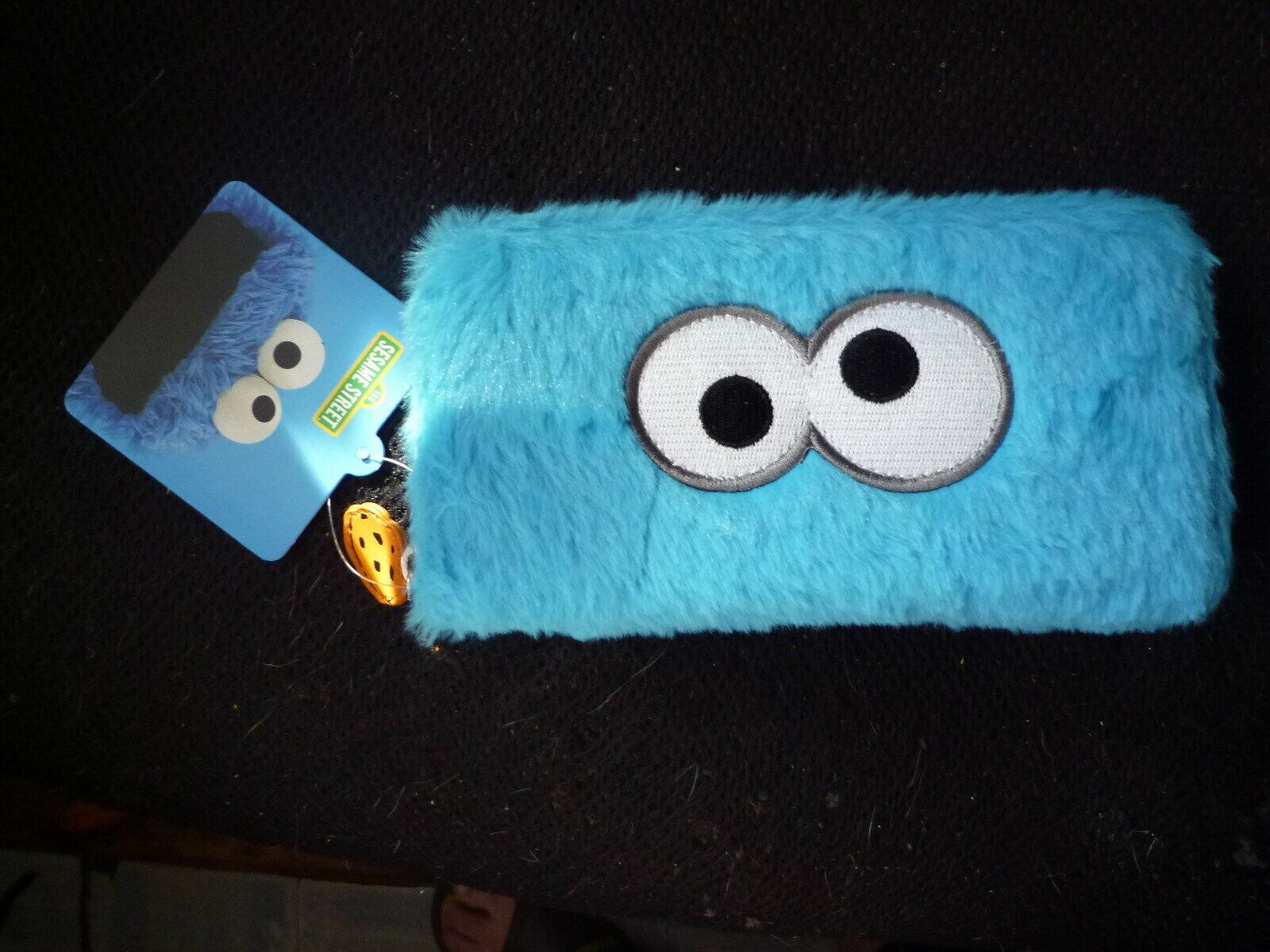 Sesame Street Cookie Monster zip-around continental purse/wallet. BNWT