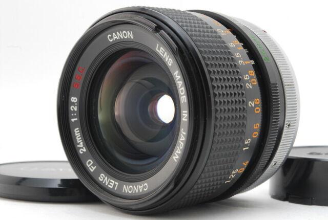 Ausgezeichnete +5 seltene O Mark Canon FD 24mm f/2.8 MF Weitwinkel Objektiv für FD aus Japan